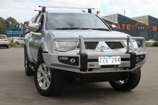 2009 Mitsubishi Triton MN MY10 GLX-R (4x4) Silver 5 Speed Manual 4x4 Double Cab Utility.