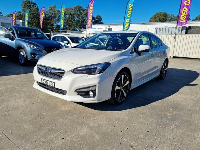 Used Subaru Impreza G5 MY18 2.0i-S CVT AWD Glendale, 2018 Subaru Impreza G5 MY18 2.0i-S CVT AWD White 7 Speed Constant Variable Sedan