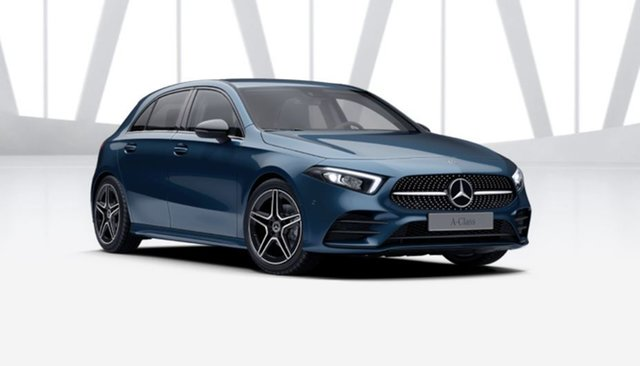 Demonstrator Mercedes-Benz A-Class W177 801+051MY A180 DCT Mulgrave, 2021 Mercedes-Benz A-Class W177 801+051MY A180 DCT Denim Blue 7 Speed Sports Automatic Dual Clutch