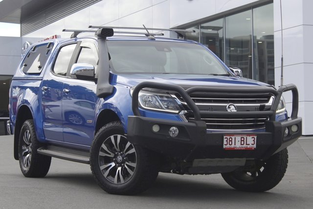 Pre-Owned Holden Colorado RG MY18 LTZ Pickup Crew Cab Woolloongabba, 2017 Holden Colorado RG MY18 LTZ Pickup Crew Cab Blue 6 Speed Sports Automatic Utility