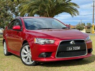 2013 Mitsubishi Lancer CJ MY13 VR-X Red/Black 6 Speed Constant Variable Sedan.