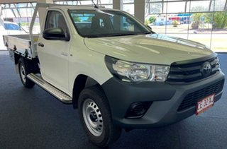2021 Toyota Hilux GUN135R Workmate 4x2 Hi-Rider White 6 Speed Manual Cab Chassis.
