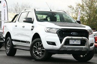 2017 Ford Ranger PX MkII 2018.00MY FX4 Double Cab White 6 Speed Sports Automatic Utility.