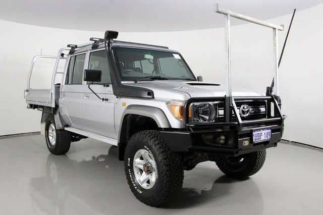 Used Toyota Landcruiser VDJ79R MY12 Update GXL (4x4) Bentley, 2013 Toyota Landcruiser VDJ79R MY12 Update GXL (4x4) Silver 5 Speed Manual Double Cab Chassis