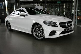 2020 Mercedes-Benz C-Class C205 800+050MY C200 9G-Tronic White 9 Speed Sports Automatic Coupe.