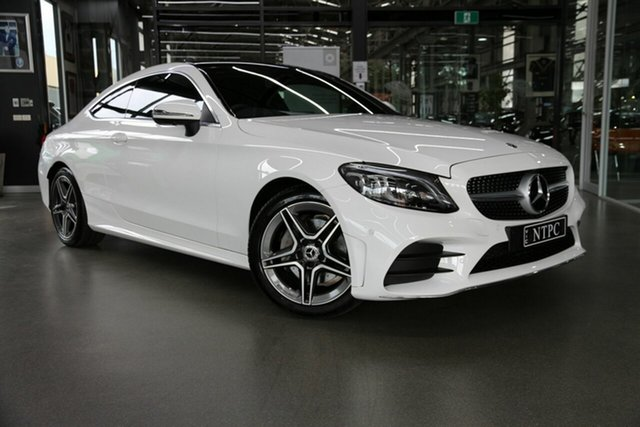 Used Mercedes-Benz C-Class C205 800+050MY C200 9G-Tronic North Melbourne, 2020 Mercedes-Benz C-Class C205 800+050MY C200 9G-Tronic White 9 Speed Sports Automatic Coupe