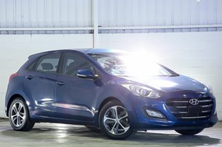 2015 Hyundai i30 GD3 Series II MY16 Active X Blue 6 Speed Sports Automatic Hatchback.