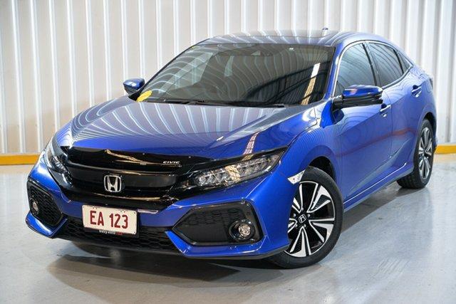 Used Honda Civic 10th Gen MY17 VTi-LX Hendra, 2017 Honda Civic 10th Gen MY17 VTi-LX Blue 1 Speed Constant Variable Hatchback