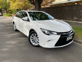 2017 Toyota Camry ASV50R Atara S White 6 Speed Sports Automatic Sedan.