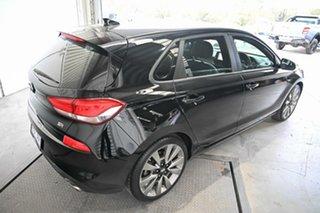 2017 Hyundai i30 PD MY18 SR D-CT Black 7 Speed Sports Automatic Dual Clutch Hatchback