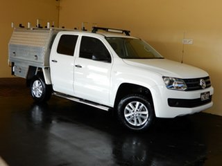 2016 Volkswagen Amarok 2H MY16 TDI420 Core Edition (4x4) White 8 Speed Automatic Dual Cab Chassis.