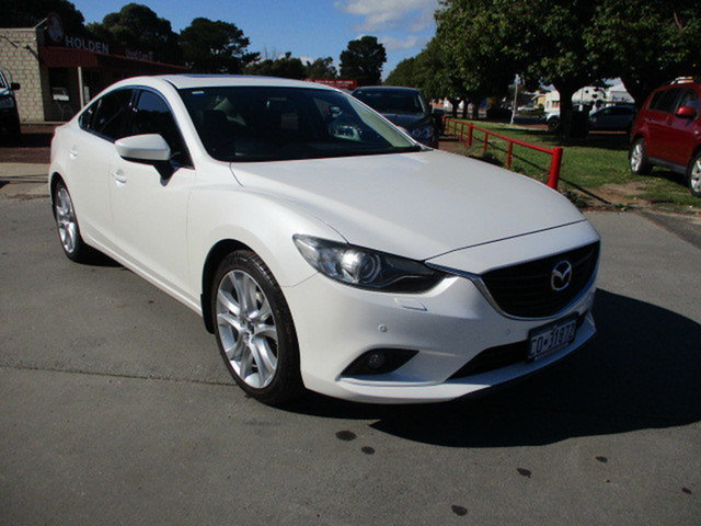 Used Mazda 6 GT Katanning, 2014 Mazda 6 6C 4D Sedan GT Pearl White 6 Speed Automatic Sedan