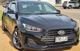 2019 Hyundai Veloster JS MY20 Coupe Black 6 Speed Automatic Hatchback.