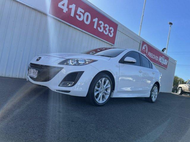Used Mazda 3 BL10L1 MY10 SP25 Activematic Bundaberg, 2010 Mazda 3 BL10L1 MY10 SP25 Activematic White 5 Speed Sports Automatic Sedan