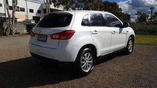 2013 Mitsubishi ASX XB MY13 (2WD) White Continuous Variable Wagon.