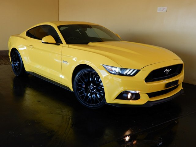 Used Ford Mustang FM Fastback GT 5.0 V8 Toowoomba, 2015 Ford Mustang FM Fastback GT 5.0 V8 Yellow 6 Speed Automatic Coupe