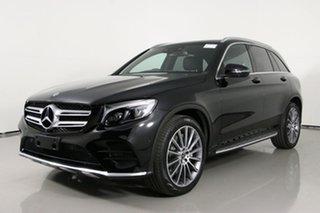 2017 Mercedes-Benz GLC220D 253 MY18 Black 9 Speed Automatic Wagon.
