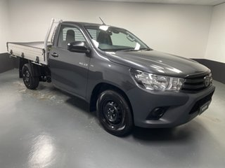 2020 Toyota Hilux TGN121R Workmate 4x2 Grey 6 Speed Sports Automatic Cab Chassis.