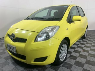 2008 Toyota Yaris NCP90R YR Yellow 4 Speed Automatic Hatchback.