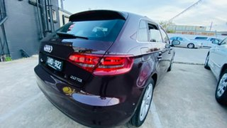 2014 Audi A3 8V MY15 Attraction Sportback S Tronic Maroon 7 Speed Sports Automatic Dual Clutch