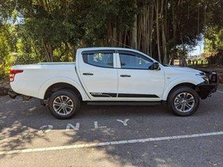 2016 Mitsubishi Triton MQ MY17 GLX+ Double Cab White 6 Speed Manual Utility.