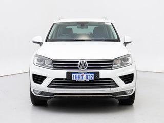 2015 Volkswagen Touareg 7P MY15 150 TDI White 8 Speed Automatic Wagon.