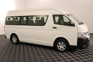 2017 Toyota HiAce TRH223R Commuter High Roof Super LWB White 6 speed Automatic Bus
