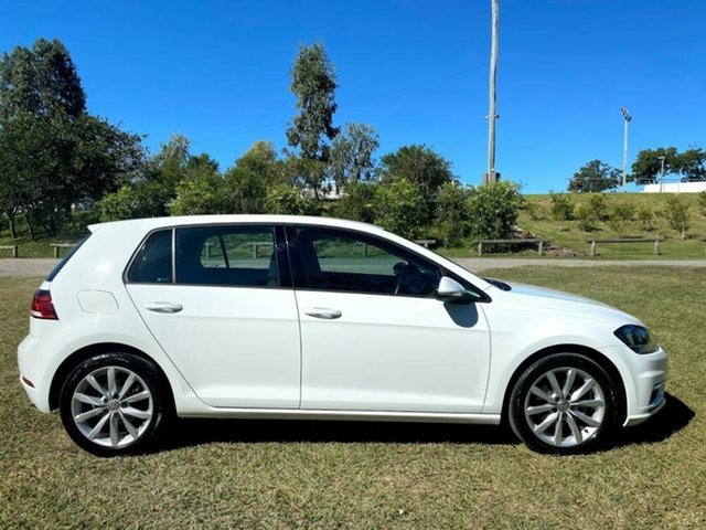 Used Volkswagen Golf 7.5 MY18 110TSI DSG Comfortline Mount Gravatt, 2017 Volkswagen Golf 7.5 MY18 110TSI DSG Comfortline Pure White 7 Speed Sports Automatic Dual Clutch