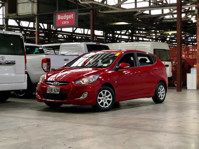 Used Hyundai Accent RB Active Mile End South, 2011 Hyundai Accent RB Active Red 5 Speed Manual Hatchback