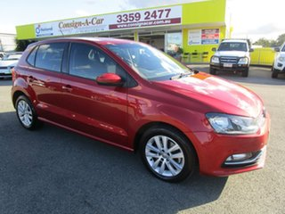 2015 Volkswagen Polo 6R MY16 81TSI DSG Comfortline Red 7 Speed Sports Automatic Dual Clutch.