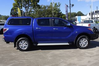 2012 Mazda BT-50 UP0YF1 GT Aurora Blue 6 Speed Manual Utility.