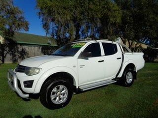2011 Mitsubishi Triton MN MY11 GL-R Double Cab White 4 Speed Automatic Utility