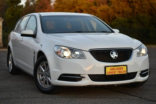 Used Holden Commodore VF II MY17 Evoke Sportwagon Enfield, 2017 Holden Commodore VF II MY17 Evoke Sportwagon White 6 Speed Sports Automatic Wagon