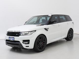 2014 Land Rover Range Rover LW Sport SDV8 HSE Dynamic White 8 Speed Automatic Wagon.