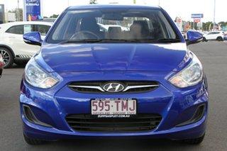 2013 Hyundai Accent RB Active Blue 5 Speed Manual Sedan.