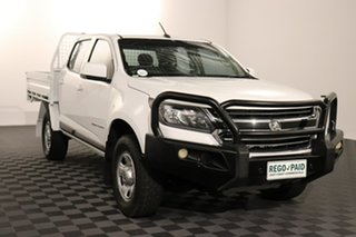 2016 Holden Colorado RG MY17 LS Crew Cab Summit White 6 speed Manual Cab Chassis.