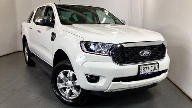 Demo Ford Ranger PX MkIII 2021.25MY XLT Hi-Rider Elizabeth, 2021 Ford Ranger PX MkIII 2021.25MY XLT Hi-Rider Arctic White 6 Speed Sports Automatic