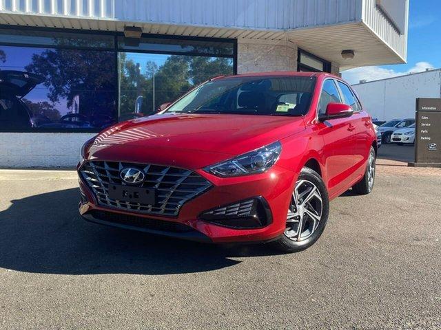 New Hyundai i30 PD.V4 MY21 Penrith, 2021 Hyundai i30 PD.V4 MY21 Fiery Red 6 Speed Manual Hatchback
