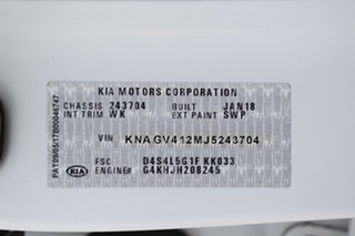 2018 Kia Optima JF MY18 GT Snow White Pearl/bur 6 Speed Sports Automatic Sedan