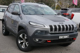 2014 Jeep Cherokee KL MY15 Trailhawk Silver 9 Speed Sports Automatic Wagon.