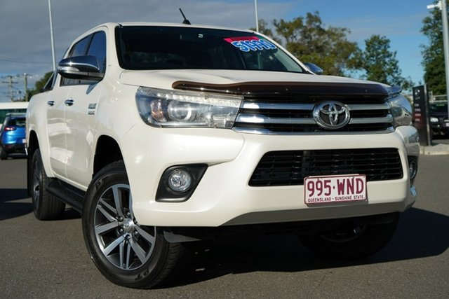 Used Toyota Hilux GUN126R SR5 Double Cab Hillcrest, 2016 Toyota Hilux GUN126R SR5 Double Cab White 6 Speed Sports Automatic Utility