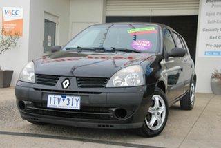 2005 Renault Clio Authentique Black 5 Speed Manual Hatchback.