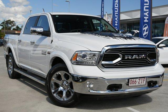 Used Ram 1500 MY18 Laramie Crew Cab SWB Aspley, 2018 Ram 1500 MY18 Laramie Crew Cab SWB White 8 Speed Automatic Utility