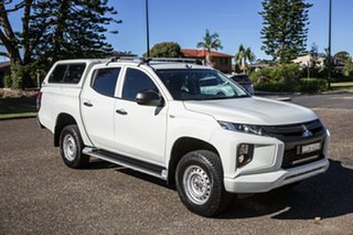 2019 Mitsubishi Triton MR MY20 GLX Double Cab White 6 Speed Manual Utility.