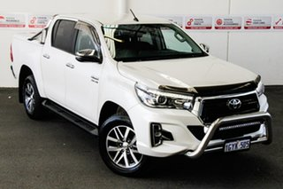 2019 Toyota Hilux GUN126R SR5 Double Cab Crystal Pearl 6 Speed Sports Automatic Utility.