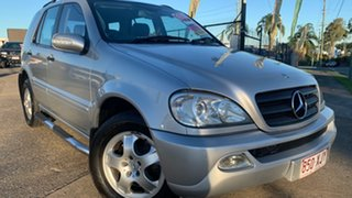 2002 Mercedes-Benz ML270 CDI W163 Luxury (4x4) Silver 5 Speed Auto Tipshift Wagon.
