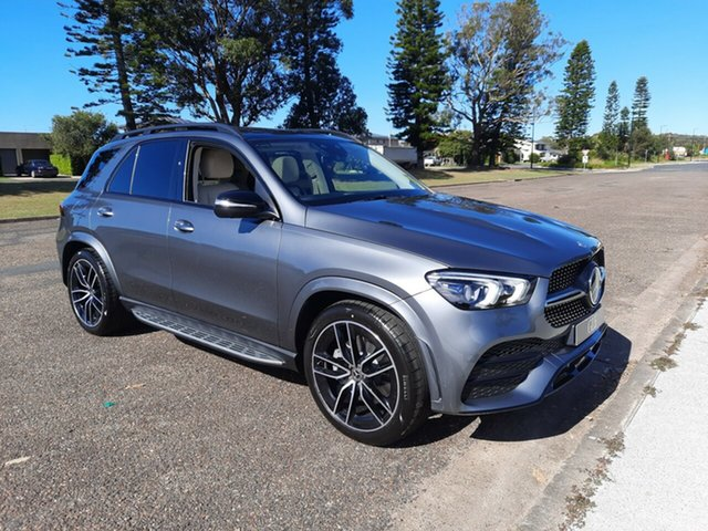 New Mercedes-Benz GLE-Class V167 801+051MY GLE450 9G-Tronic 4MATIC Port Macquarie, 2021 Mercedes-Benz GLE-Class V167 801+051MY GLE450 9G-Tronic 4MATIC Selenite Grey 9 Speed