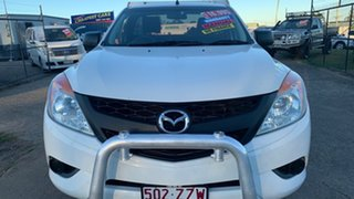 2013 Mazda BT-50 XT (4x2) White 6 Speed Manual Cab Chassis.