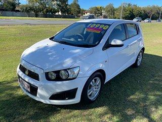 2013 Holden Barina TM MY13 CD White 6 Speed Automatic Hatchback.