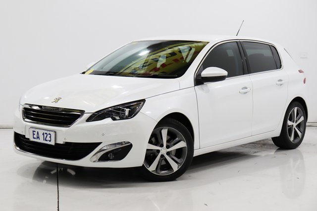 Used Peugeot 308 T9 Allure Brooklyn, 2015 Peugeot 308 T9 Allure White 6 Speed Sports Automatic Hatchback